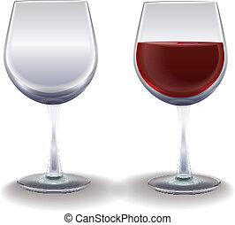 wine glasses isolated on white background