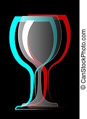wine glasses vector illustration