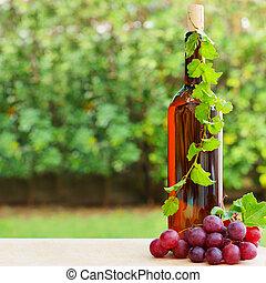 Wine, grape and vineyard