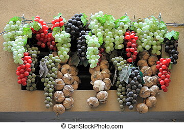 Wine grapes decoration