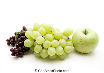 Wine grapes with apple
