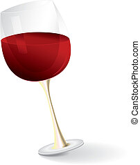 wine grass - illustration of red wine glass