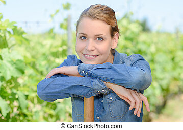 wine grower smiling