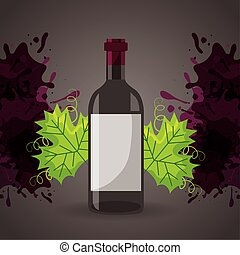 wine house poster with bottle
