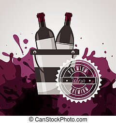 wine house poster with bottles