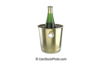 Wine - Ice bucket with bottle of wine