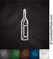 wine icon. Hand drawn vector illustration