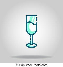 wine icon or logo in  twotone - Logo or symbol of wine icon ...