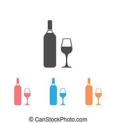 Wine icon Set Vector Illustration on the white