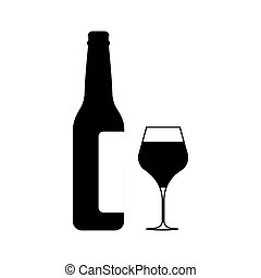 Wine icon Vector Illustration on the white background.