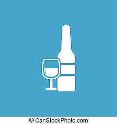 Wine icon, white