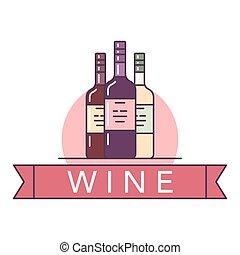 Wine illustrations items