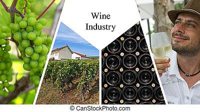 Wine industry presentation card