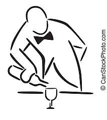 wine into a glass