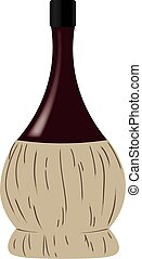 Wine italian bottle (fiasco)