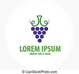 Wine label design, , symbol grape design template