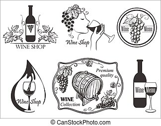 Wine labels collection
