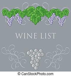 Wine List Cover Design