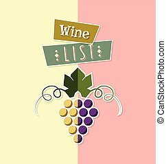 Wine list cover template