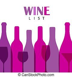 Wine list design for bar and restaurant.