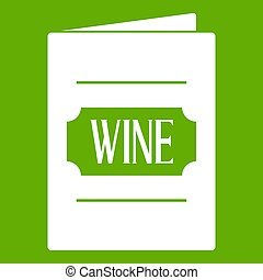 Wine list icon green