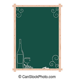 Wine list menu board
