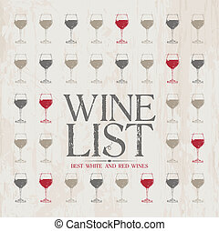 Wine List Menu template.