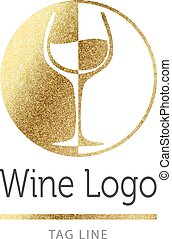 Wine logo in gold