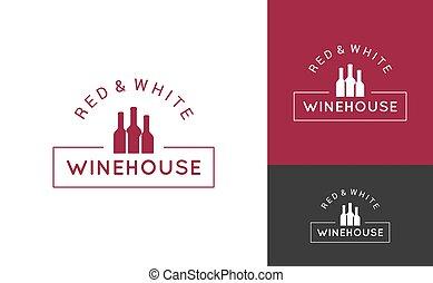 wine logo set design background