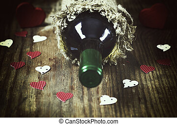 wine love heart shape - decoration with a symbol of warmth...