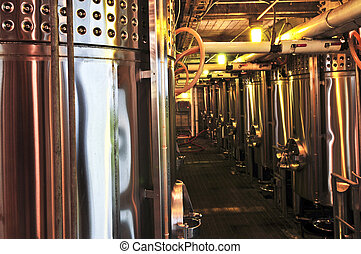 Wine making equipment - Wine making vats and equipment in...