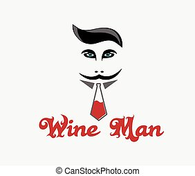 Wine man illustration