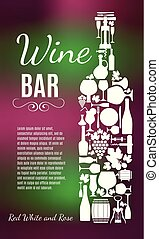 Wine menu background