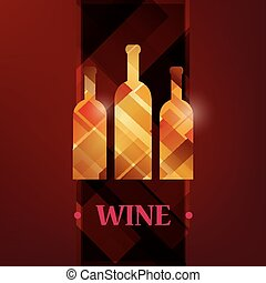 wine menu card, stylized vector background