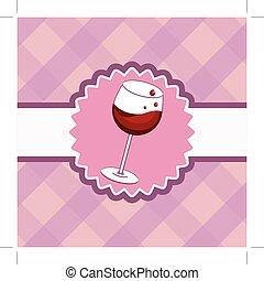 wine menu card
