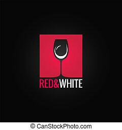 wine menu glass design backgraund