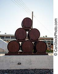 Wine museum and vinery Koutsouyanopoulos, Santorini. - ...