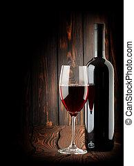 Wine on a dark background