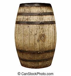 Wine or beer barrel cask - Wooden barrel cask for wine or...