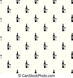 Wine pattern vector seamless