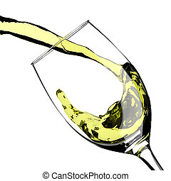 Wine Pouring Glass Splash