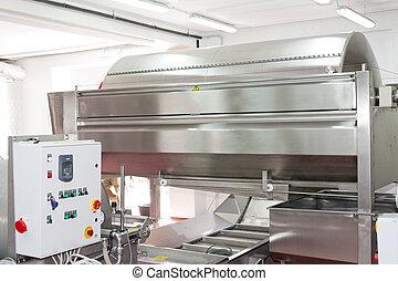 wine press in winery