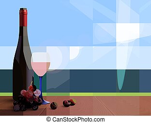 Wine Realistic Background