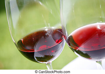 Wine - Red wine with geen background