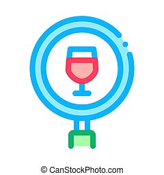 wine research icon vector outline illustration