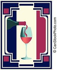 Wine retro poster