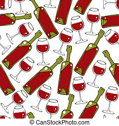 Wine seamless pattern.