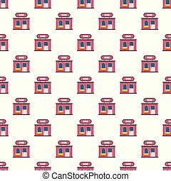 Wine shop pattern seamless vector