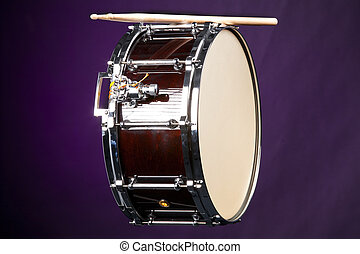 Wine Snare Drum Isolated on Purple