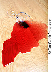 wine spill on hardwood floor - wine spilled on hardwood...
